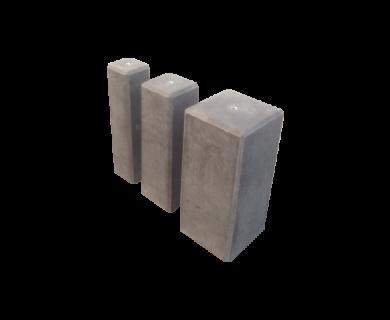 Poer 15x15x50 zwart + schroefhuls m16
