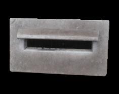 Brievenbus plaat 24 x 43 x 4,5 cm