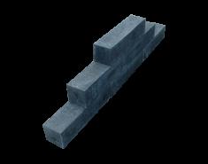 Stapelblok 12 x 12 x 40 oud hollands - zwart