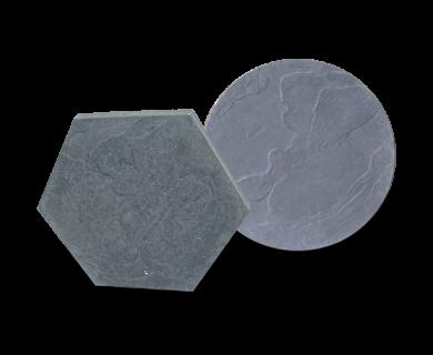 Staptegel 45 x 4 zwart (rond)