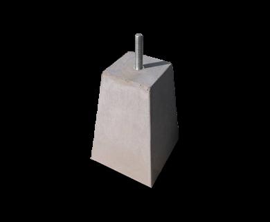 Betonpoer tapse uitvoering 18x18 / 30 x 30 x 45 Grijs